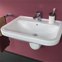 Barrier-free basin