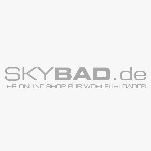 Kermi Eckeinstieg-Pendeltür Atea mit Festfeld 90x200, silber/hochglanz, ESG klar, links