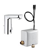 Grohe Eurosmart CE Waschtischarmatur 36386001 chrom, Infrarot, mit Powerbox, mit Mischung
