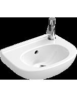 Villeroy & Boch O.Novo Handwaschbecken 536038R1 Compact, mit Überlauf, Hahnloch rechts, weiß cplus
