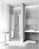 Kermi porte pliante Diga en niche DI2DR10018VAK 100x185cm, argent brillant, TSG clair, droite