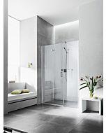 Kermi porte pliante Diga avec panneau fixe en niche DI2OR120202PK 120x200cm, blanc, TSG clear Clean, droite