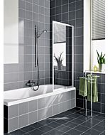Kermi Vario 2000 Faltwand 1-flügelig V2FW1065141YK 70,1-71,7x140cm, silber m., ESG SR Opaco Clean