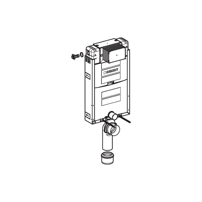 Geberit Wand-WC-Element Kombifix 110020001 Bauhöhe 108 cm, mit Omega  UP-Spülkasten