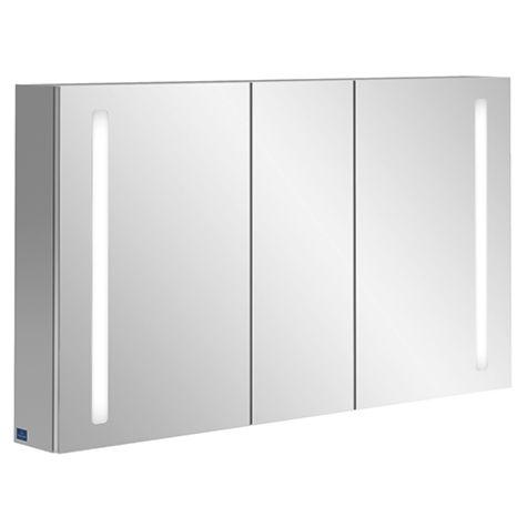 Villeroy & Boch My View 14 A4241300 Armoire de toilette, 130 x 75 x 17,3 cm, LED