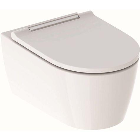 Geberit One Wand-Tiefspül-WC 500202011 mit WC-Sitz, weiß/hochglanzverchromt KeraTect