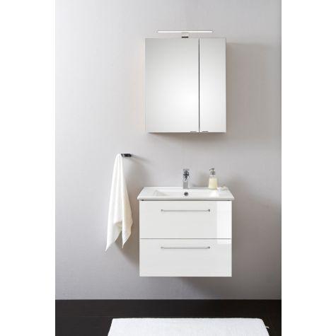 Artiqua 808 Badmöbel-Block PLUS mit Spiegelschrank 808.11091004, weiß hochglanz 100 cm