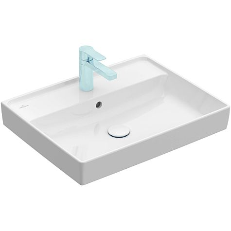Villeroy & Boch Collaro wash basin 4A336G01 with overflow,  ground underside, 60x47cm, white