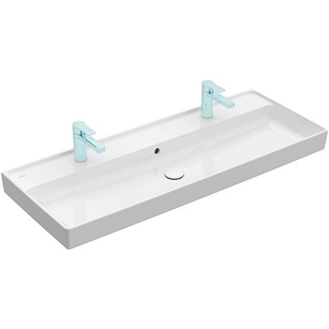 Villeroy & Boch Collaro wash basin 4A33C4R1  white c-plus, with tap hole and overflow, 120x47cm