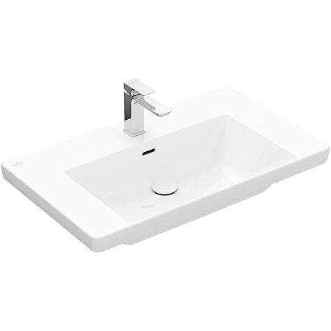 Villeroy and Boch Subway 3.0 vanity basin 4A7080R1 80x47cm, 1 tap hole, with overflow, white C-plus