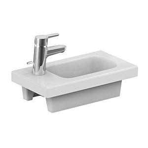 Ideal Standard Connect Space Handwaschbecken E1322 45x25cm, weiss, mit Ablage links, ohne Überlauf