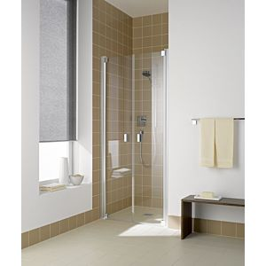Kermi Raya Pendeltür RAPTD100201PK 100 x 200 cm, silber/mattglanz, ESG klar, Clean
