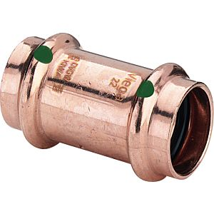Viega Muffe Profipress 2415 22 mm, Kupfer, SC-Contur