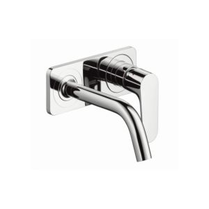 hansgrohe single lever hansgrohe mixer AxorCitterioM for concealed installation, with plate, short spout, chrome