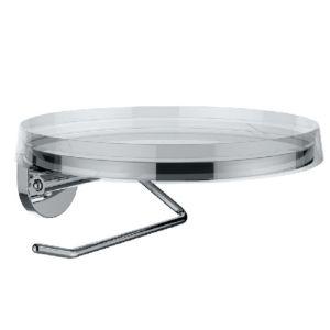 Laufen Kartell Papierhalter H3843320040001 185 x 185 mm, mit Deko Disc in kristallklar