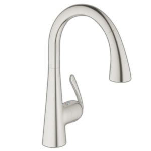 Grohe kitchen mixer Zedra 32294SD1 stainless steel, pull-out professional shower head