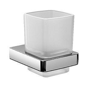 Emco Trend Glashalter 022000100 chrom, Kristallglas satiniert