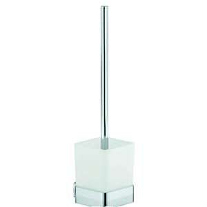 Kludi E2 WC-Bürstengarnitur 4997405 chrom, Opalglas weiß, matt
