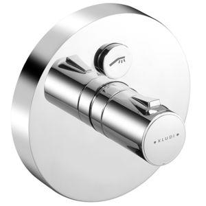 Kludi Push Brause-Thermostat 388020538 chrom, 1 Verbraucher, Unterputz, runde Rosette