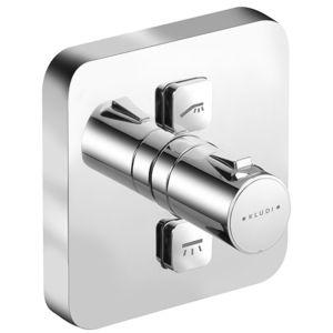 Kludi Push Brause-Thermostat 388110538 chrom, 2 Verbraucher, soft-edge Rosette