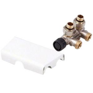 Zehnder raccordement match0 8200976021 Couvercle court, blanc, pour fonctionnement eau chaude