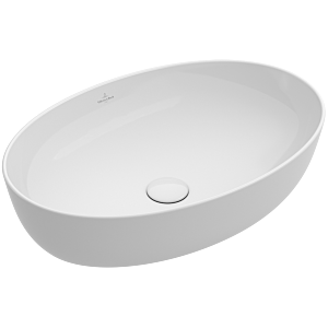 Villeroy & Boch Artis countertop basin 41986101 61x41cm, without tap hole, without overflow, white