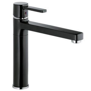 Kludi Zenta Black Küchenarmatur 389738675 chrom/black, schwenkbarer Auslauf