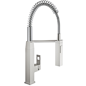 Grohe Eurocube kitchen mixer 31395DC0 supersteel, C-spout, with professional shower