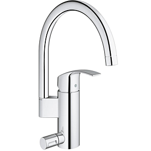 Grohe Eurosmart kitchen fitting 33490002 chrome, with device connection valve