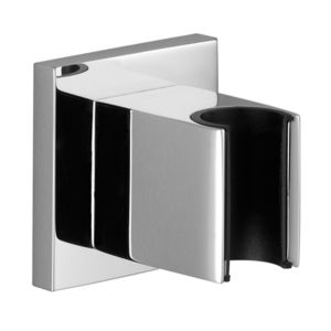 Dornbracht Wandbrausehalter Deque 2805098033 schwarz matt, mit Rosette 60 x 60 mm