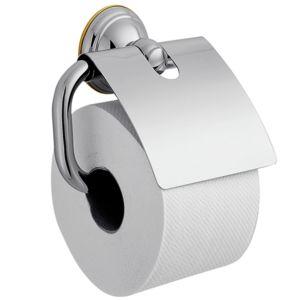 hansgrohe Papierhalter Axor Carlton 41438090 chrom/gold-optik, Metall, mit Deckel