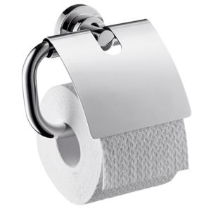 hansgrohe Papierhalter Axor Citterio 41738000 mit Deckel, Metall, chrom
