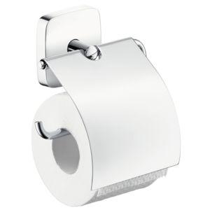 hansgrohe Papierrollenhalter PuraVida 41508000 pure chrome, mit Deckel