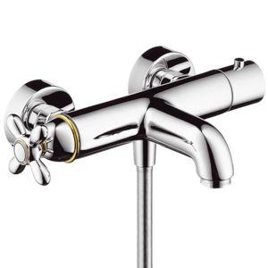 hansgrohe Wannen-Thermostat Axor Carlton 17241000 Aufputz, Kreuzgriff, Ab-/Umstellventil chrom