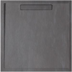 Villeroy & Boch Duschwanne Squaro UDQ1010SQR1V1S 100x100x1,8cm Quaryl, anthrazit, Abdeckung, Träger