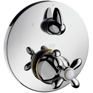 hansgrohe Fertigmontageset Axor Carlton 17725090 Unterputz-Thermostat, Ab/Umstellventil, chrom/gold