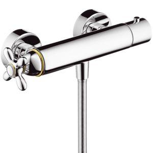 hansgrohe Brause-Thermostat Axor Carlton 17261090 Aufputz, Kreuzgriff, chrom/gold-optik