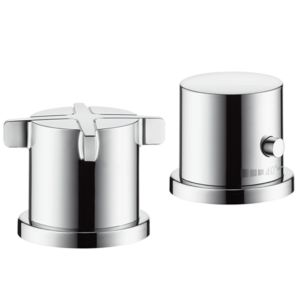hansgrohe Axor Citterio E Wannen Armatur 36412000 chrom, 2-Loch Wannenrand Thermostat