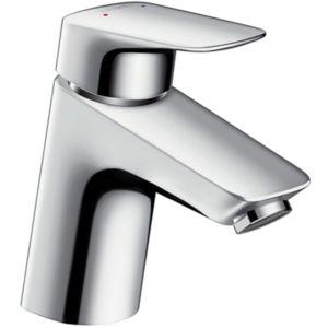 hansgrohe Logis 70 Waschtisch Armatur 71071000 chrom, Höhe 166 mm, ohne Ablaufgarnitur