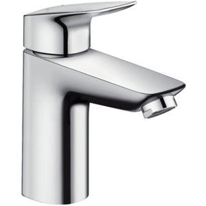 hansgrohe Logis 100 Waschtisch Armatur 71104000 chrom, Low-Flow, Ablaufgarnitur, H 187 mm