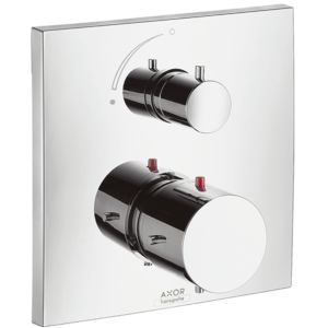 hansgrohe Axor Starck mirror X 10706000 flush-mounted, thermostatic mixer with shut-off valve