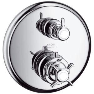 hansgrohe Axor Montreux Fertigmontageset 16820000 Unterputz-Thermostat, mit Ab/Umstellventil, chrom