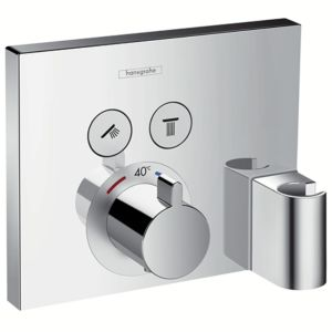 hansgrohe ShowerSelect Fertigmontageset 15765000 UP Thermostat, 2 Verbraucher, chrom