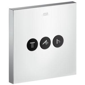 hansgrohe Axor ShowerSelect Square Ventil 36717000 Unterputz Ventil, 3 Verbraucher, chrom