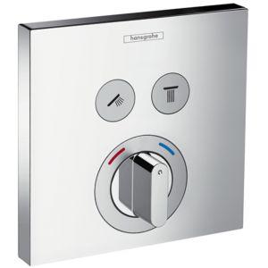 hansgrohe ShowerSelect Mischer 15768000 Unterputz Armatur, für 2 Verbraucher, chrom