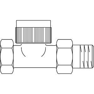 "Oventrop Thermostatventil Baureihe AQ 1183164 DN 15, 1/2"", Durchgang"