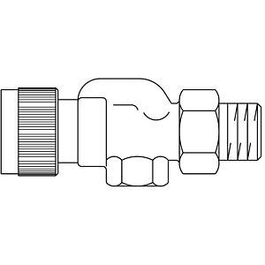 "Oventrop Thermostatventil Baureihe AQ 1183263 DN 10, 3/8"", Axialventil"