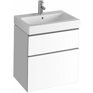 Keramag iCon Waschtischunterschrank 841360000 59,5x62x47,7cm, Alpin matt, Schublade und Auszug