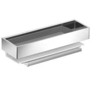 Keuco Edition 11 Duschkorb 11159010000  Aluminium silber-eloxiert/chrom mit Glasabzieher