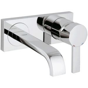 Grohe Allure 2 hole basin mixer 19309000 2 hole wall fitting, 170 mm projection, chrome
